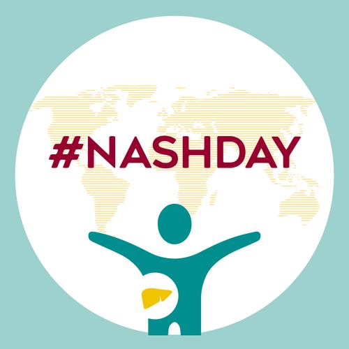Weltkugel mit dem hashtag NASHDAY
