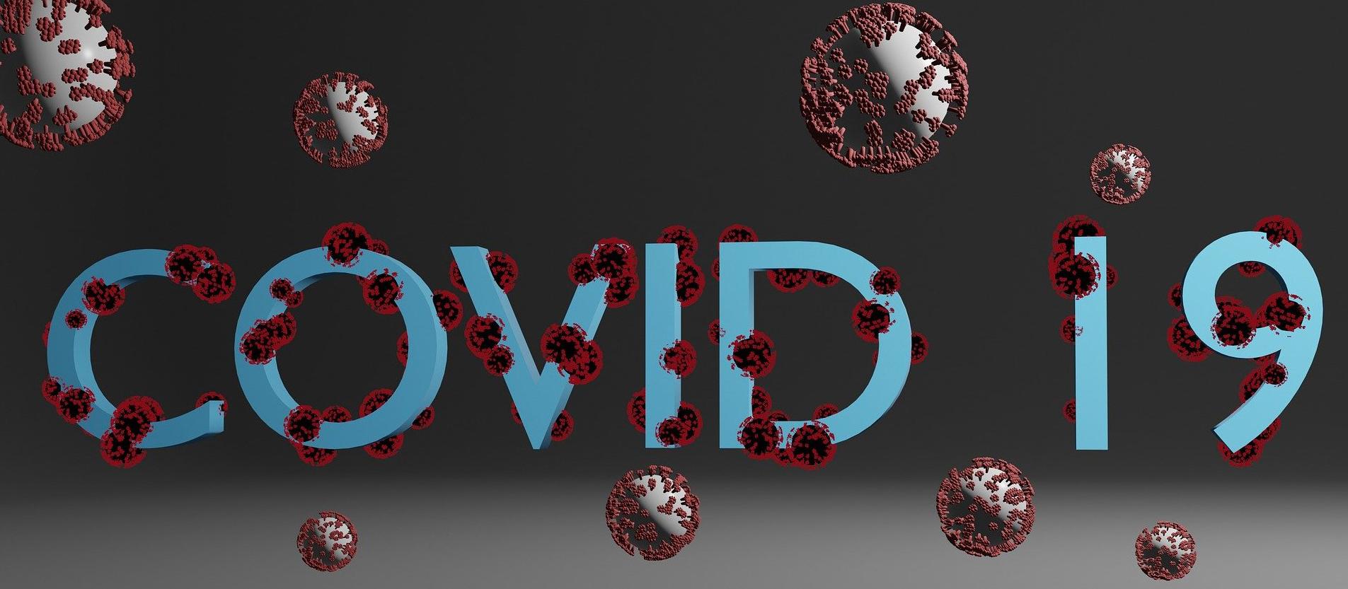 Schriftzig mit COVID-19