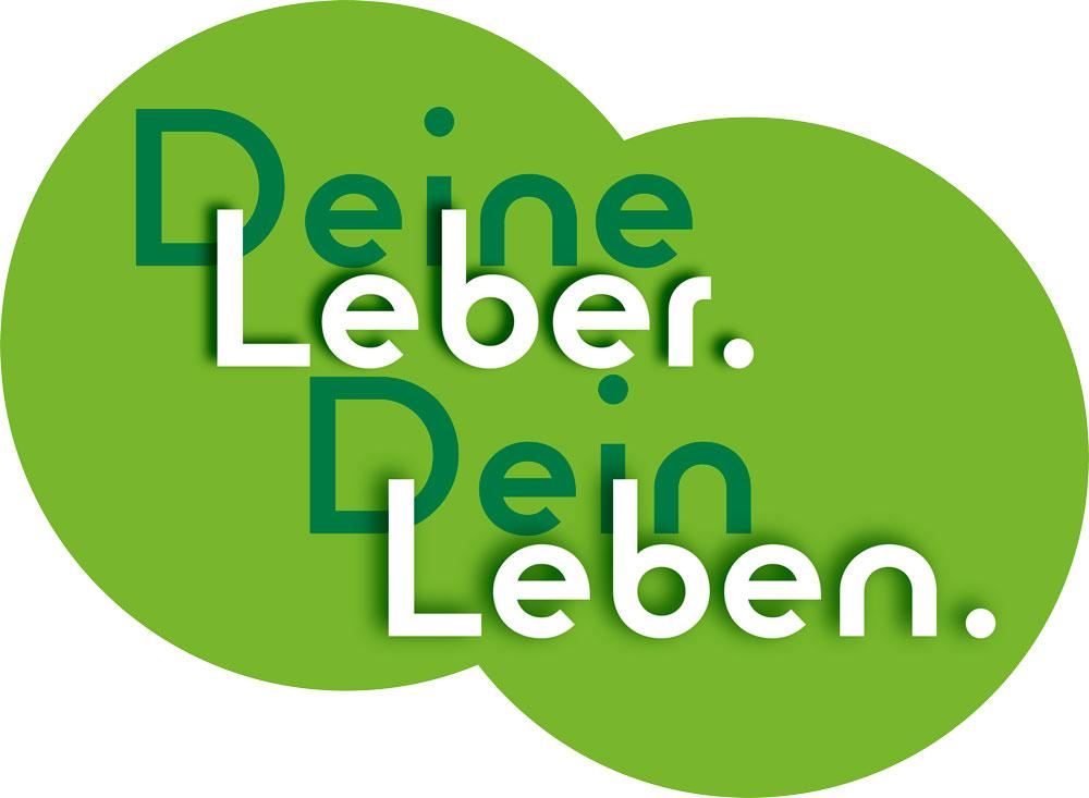 """Logo und Motto des Lebertages 2021: """"Deine Leber. Dein Leben."""""""