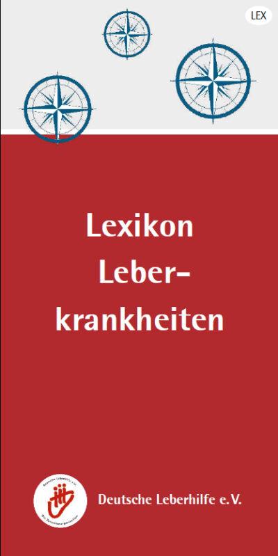 """Titelseite der Broschüre """"Lexikon Leberkrankheiten"""""""